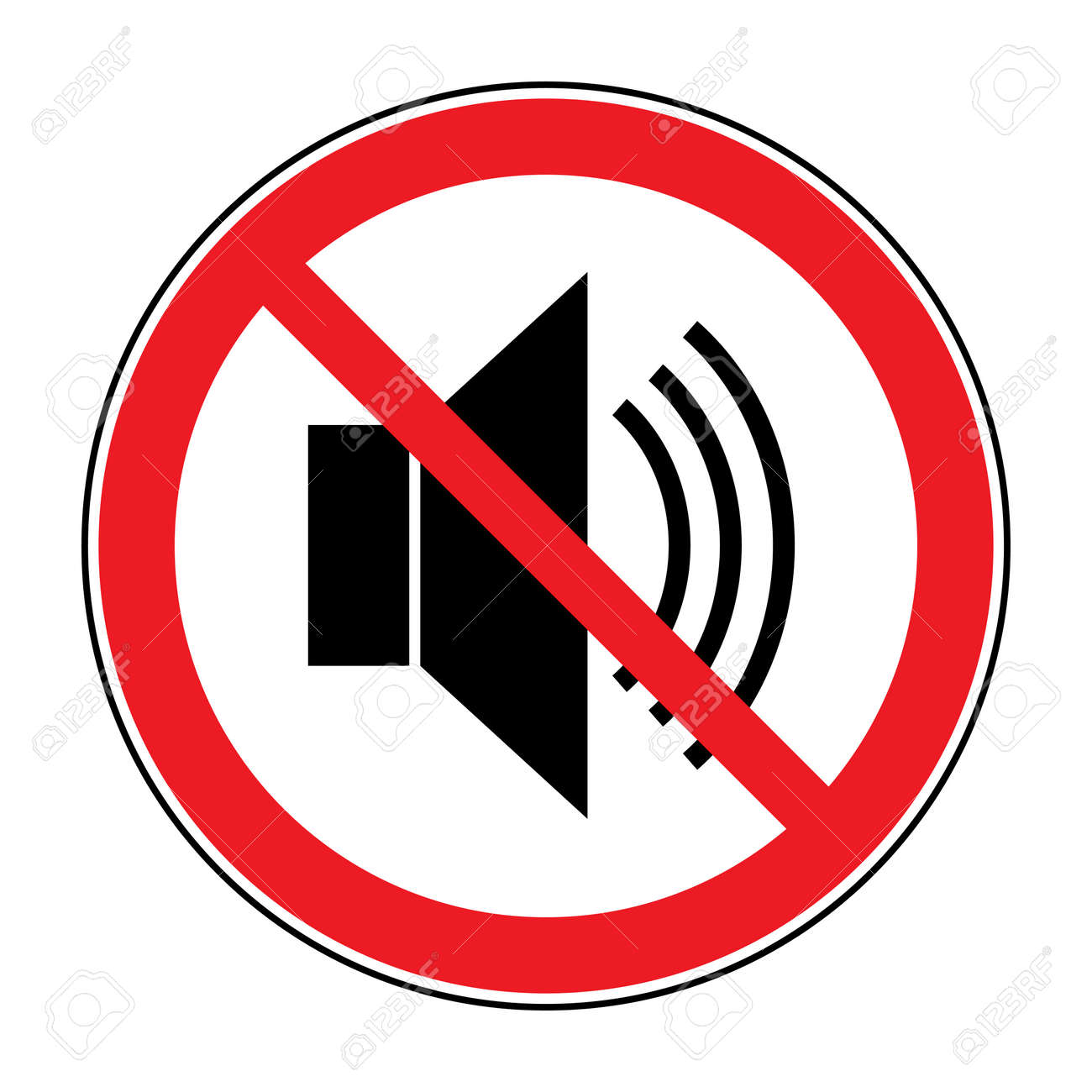 Quiet images stock pictures royalty free quiet photos and stock no noice icon indicating signal to silence mute speaker with loud prohibited sign buycottarizona