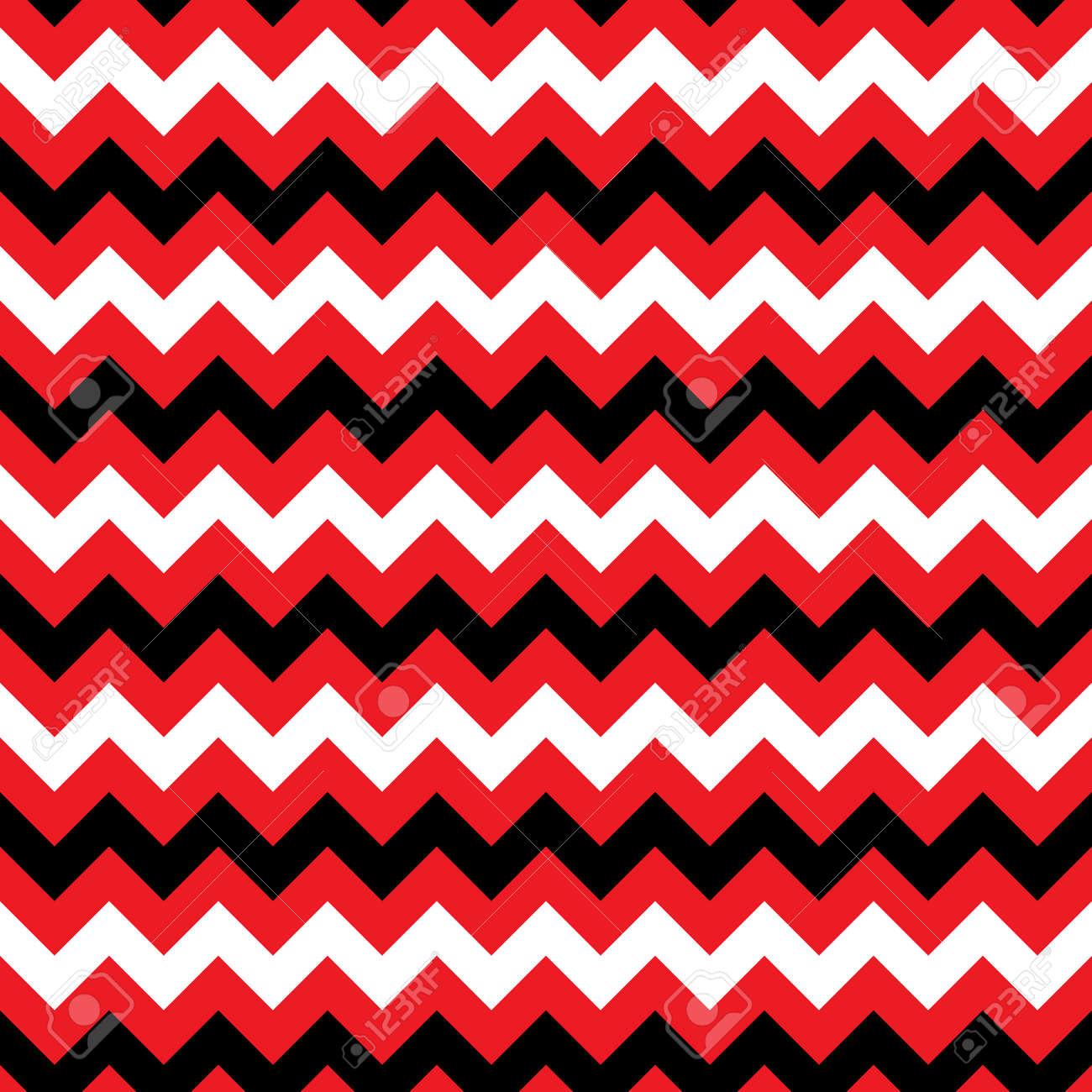 Zigzag Seamless Pattern Texture Abstraite Geometrique De Couleur Blanc Noir Et Rouge Graphiques De Mode Le Style Graphique Pour Le Papier Peint