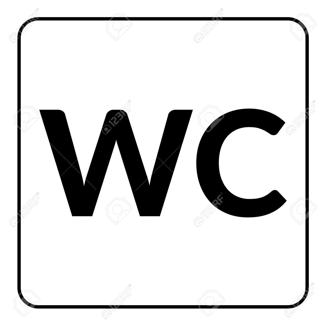 Restroom WC sign  Male and female toilet icon denoting restroom facilities  for both men and. Restroom WC Sign  Male And Female Toilet Icon Denoting Restroom