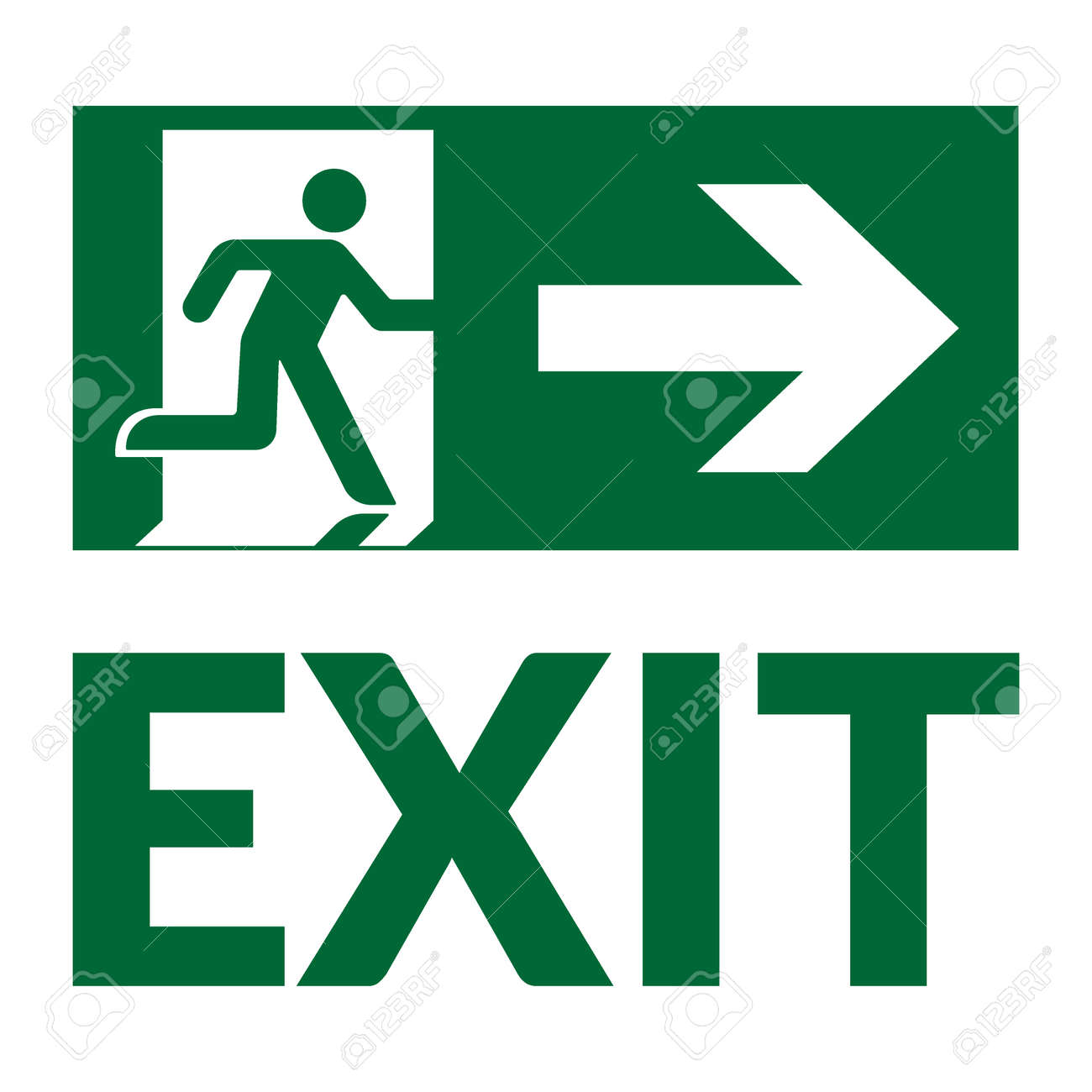 Emergency stop icon clipart emergency off - Emergency Exit Sign With Text Emergency Fire Exit Door And Exit Door Green