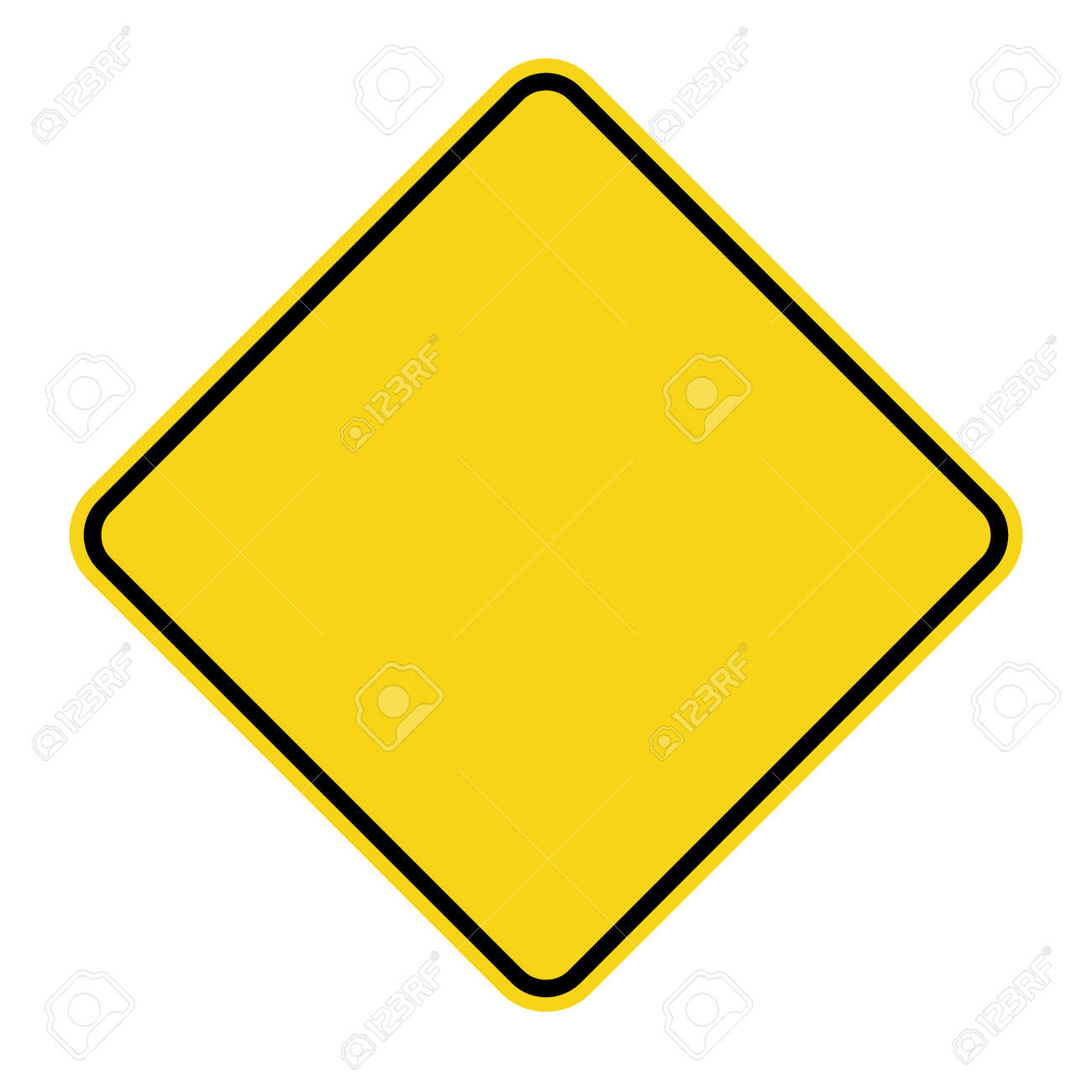 Blank yellow sign empty square warning symbol isolated on white empty square warning symbol isolated on white background priority road icon buycottarizona Gallery