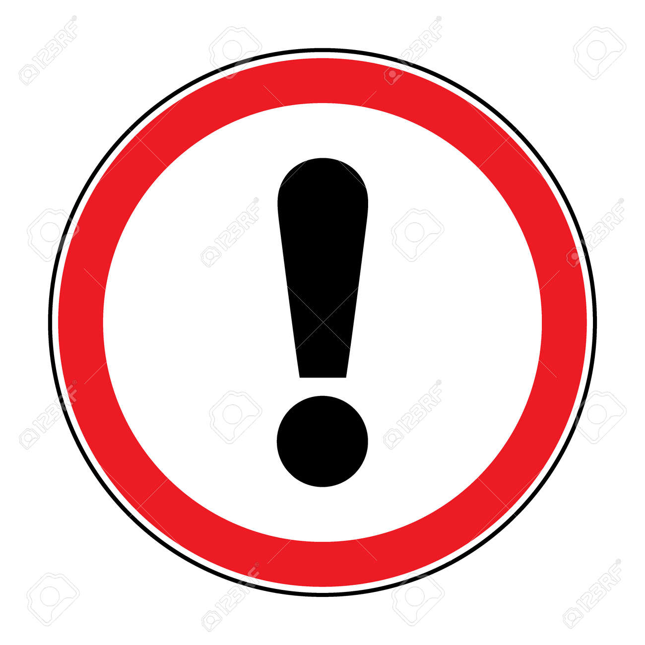 Hazard warning attention sign icon in a red circle with icon in a red circle with exclamation mark symbol isolated buycottarizona Image collections