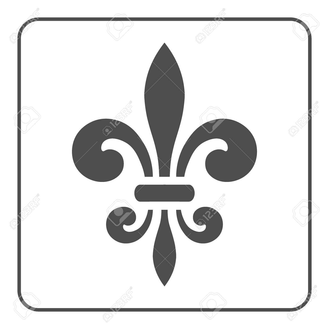 Smbolo De La Flor De Lis Signo De La Flor De Lis Lirio Francs