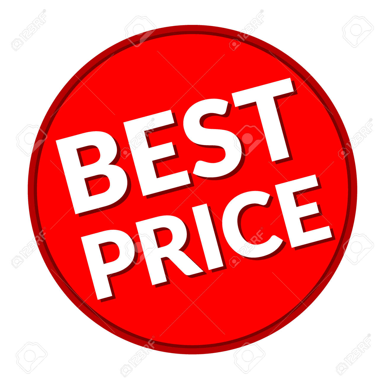 colorful best price sign red label icon for special offer stock