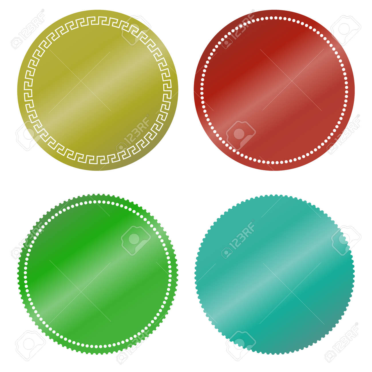 picture regarding Printable Round Labels identify Vibrant spherical stickers. Preset of blank advertising labels for..