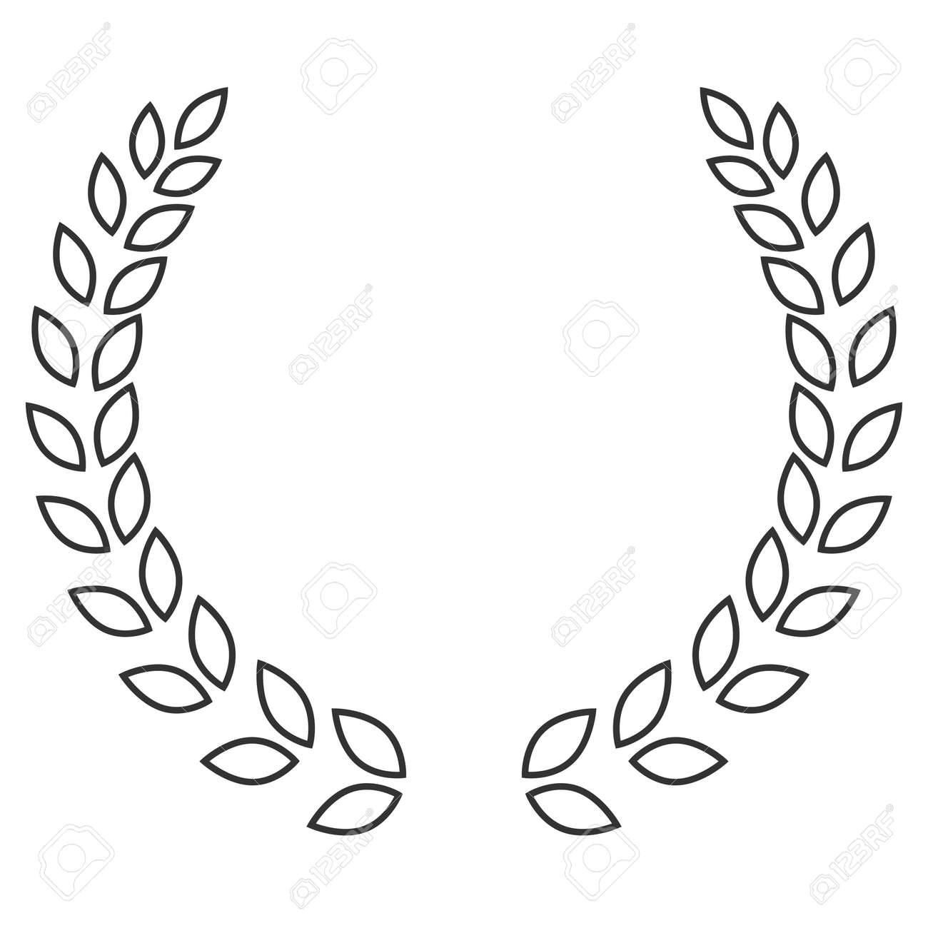 A Laurel Wreath Icon Symbol Of Victory And Achievement Vintage