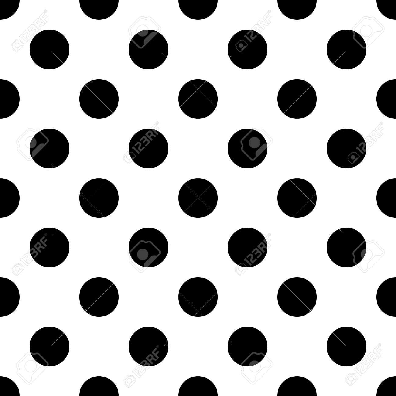 大きな水玉のシームレスなパターン 抽象的なファッション黒と白のテクスチャです モノクロのテンプレートです 壁紙 ラッピング ファブリック 背景 アパレル グラフィック スタイルは 生産等を印刷します の写真素材 画像素材 Image