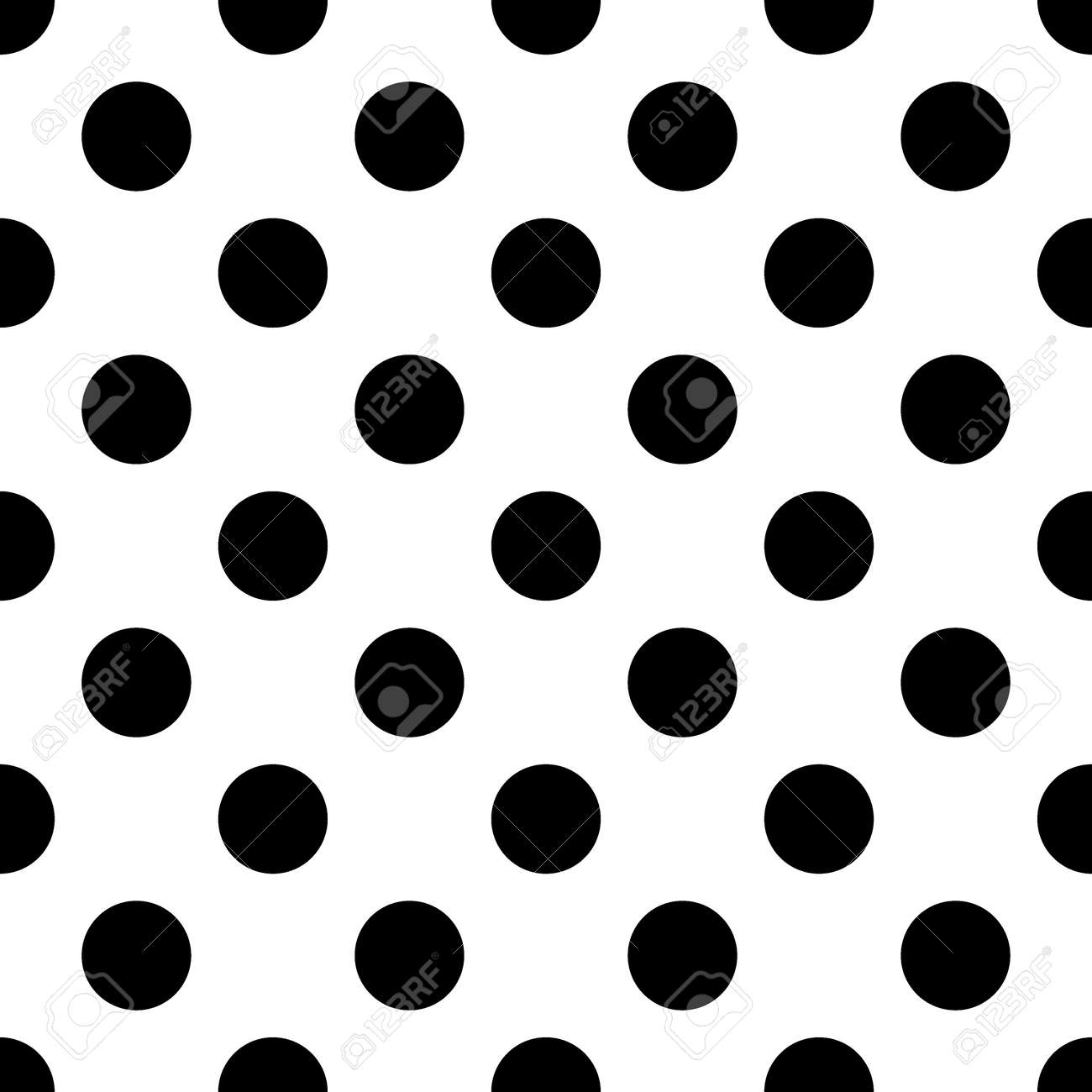 big polka dot seamless pattern abstract fashion black and white