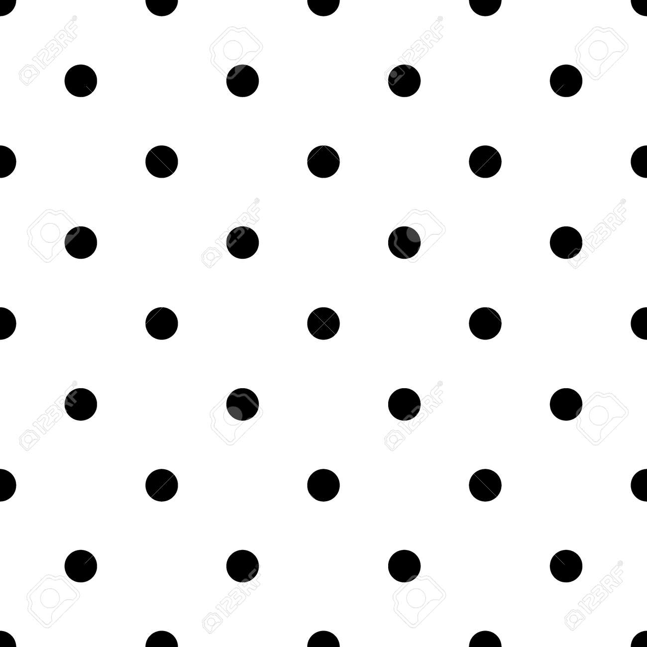 small polka dot seamless pattern abstract fashion black and stock