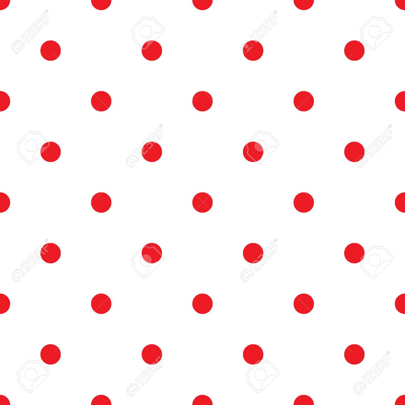小さな水玉のシームレスなパターン ファッションの赤と白のテクスチャ