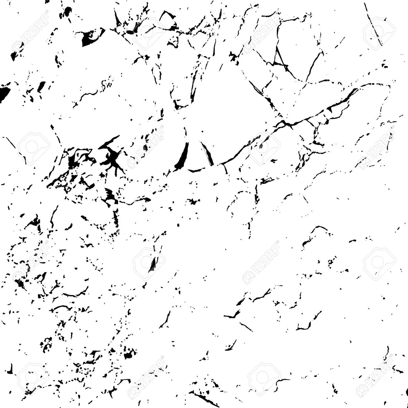 Grunge marble texture white and black. Sketch pattern to Create Distressed Effect. Overlay Distress grain monochrome design. Stylish modern background for different print products. Vector illustration - 52484537