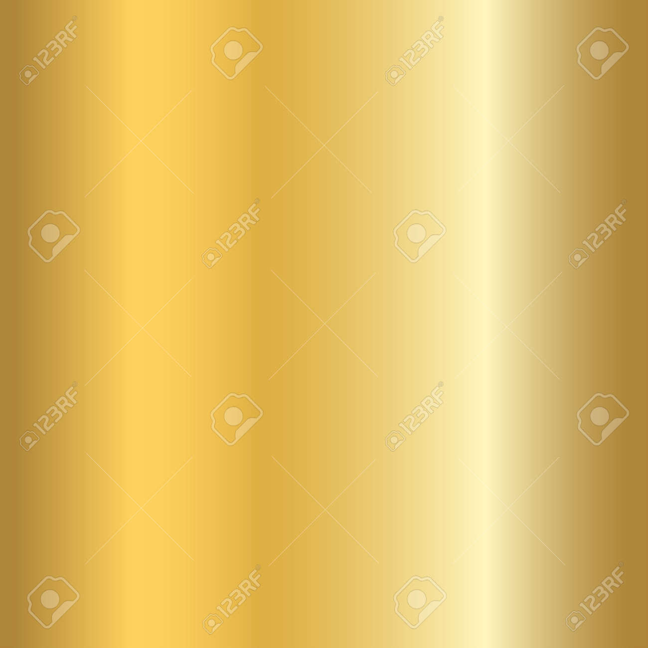Gold texture seamless pattern. Light realistic, shiny, metallic empty golden gradient template. Abstract metal decoration. Design for wallpaper, background, wrapping, fabric etc. Vector Illustration. - 54127064