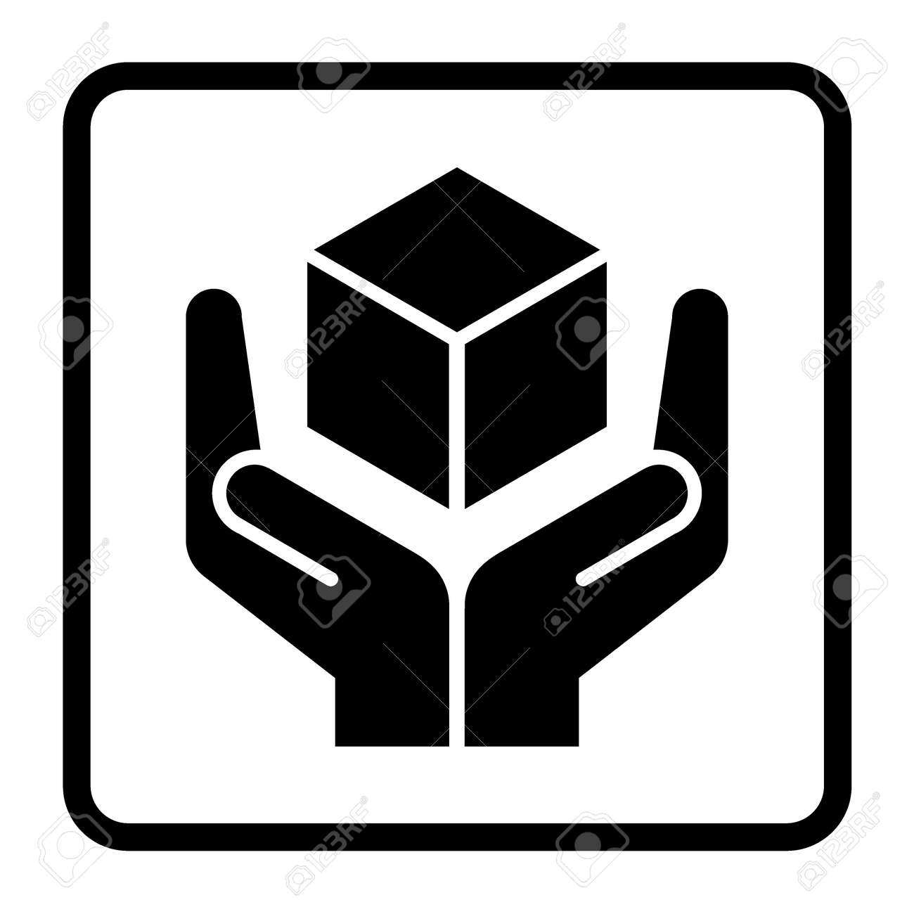 Handle with care sign in a black square fragile or packaging handle with care sign in a black square fragile or packaging symbol fragile cardboard buycottarizona