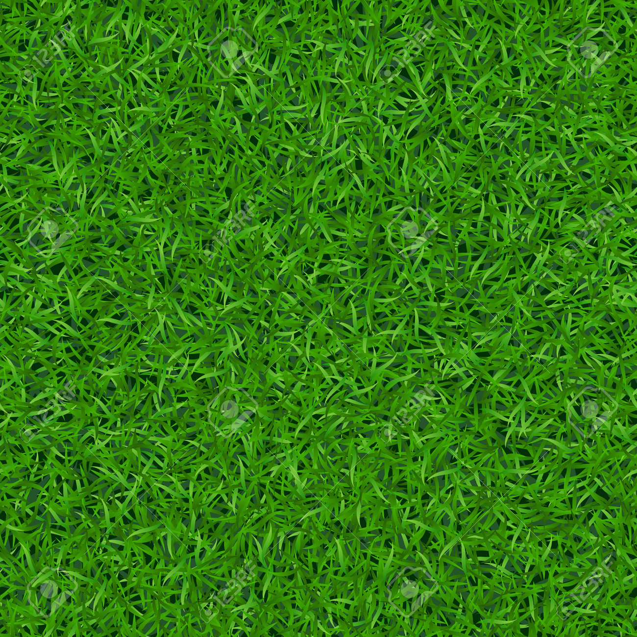 Green grass seamless pattern. Background lawn nature. Abstract field texture. Symbol of summer, plant, eco and natural, growth. Meadow design for card, wallpaper, wrapping, textile Vector Illustration - 54127107