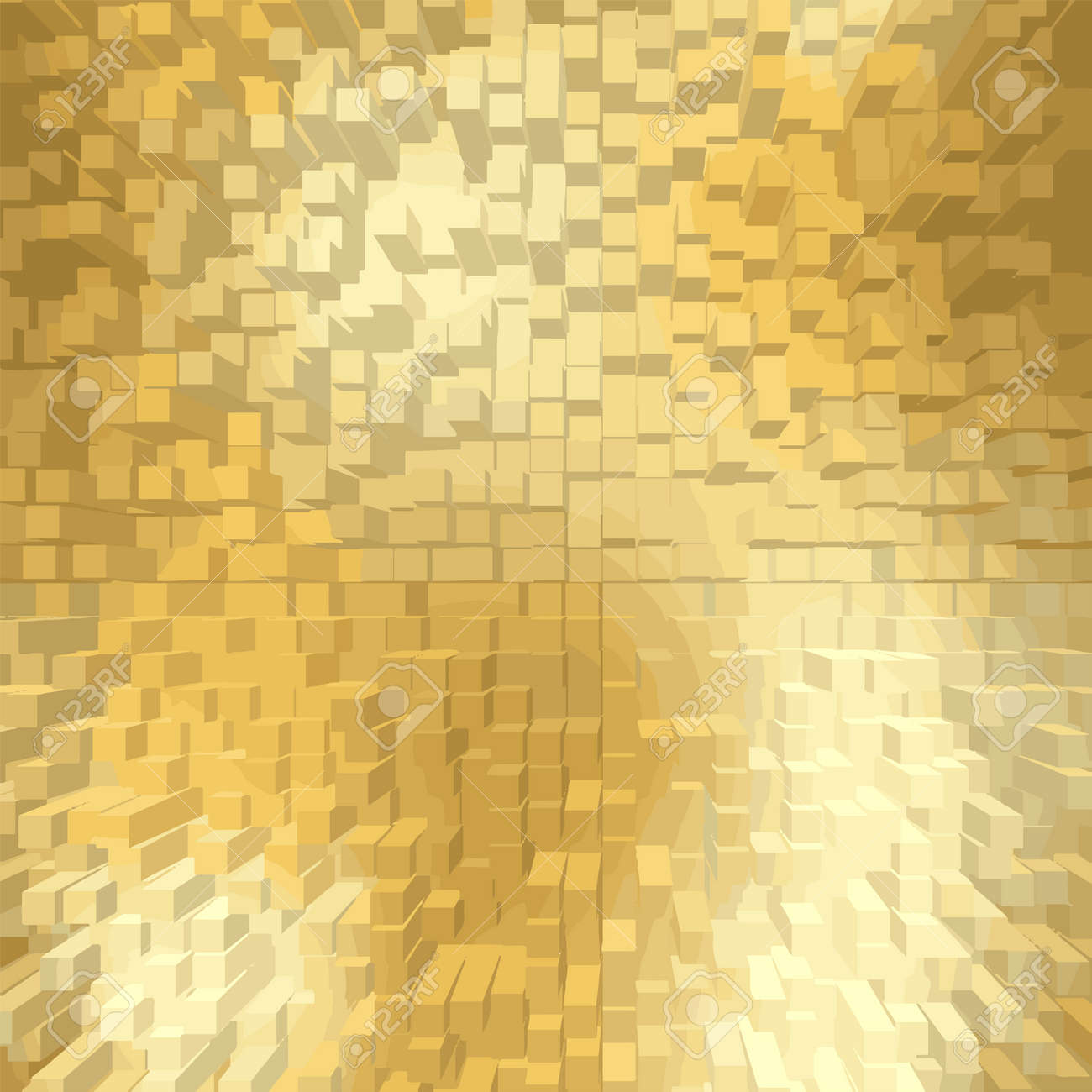 gold glitter texture square border template cube and square glowing new year