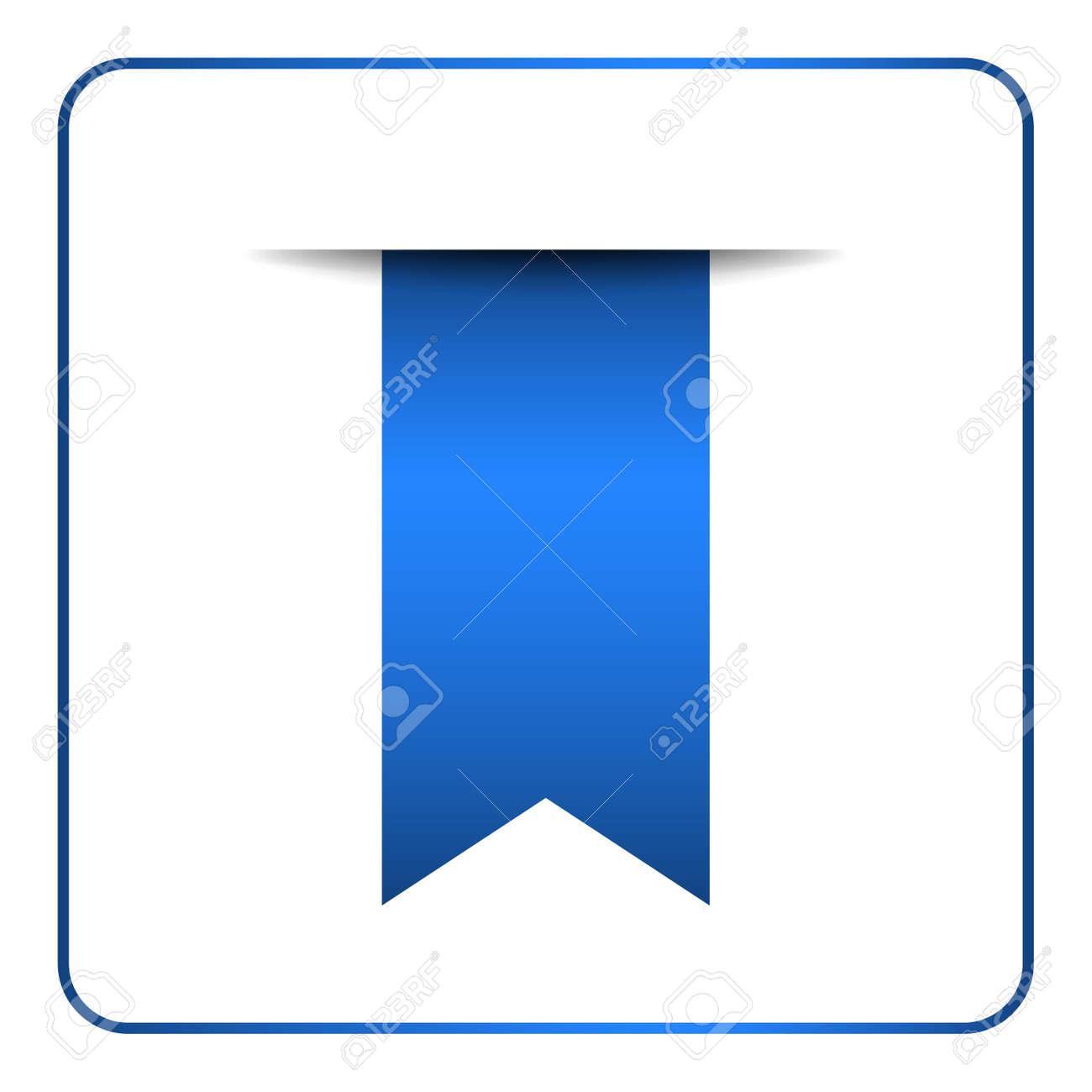 Blau Lesezeichen Banner. Vertikale Buchzeichen, Isoliert Auf Weißem ...