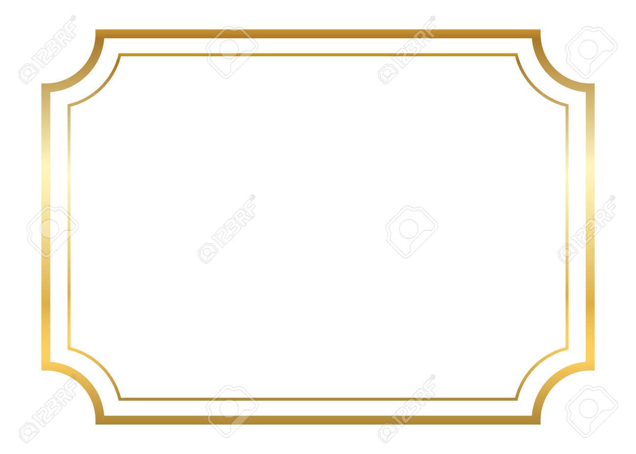 Marco De Oro. Diseño De Oro Hermoso Simple. Estilo De Borde ...