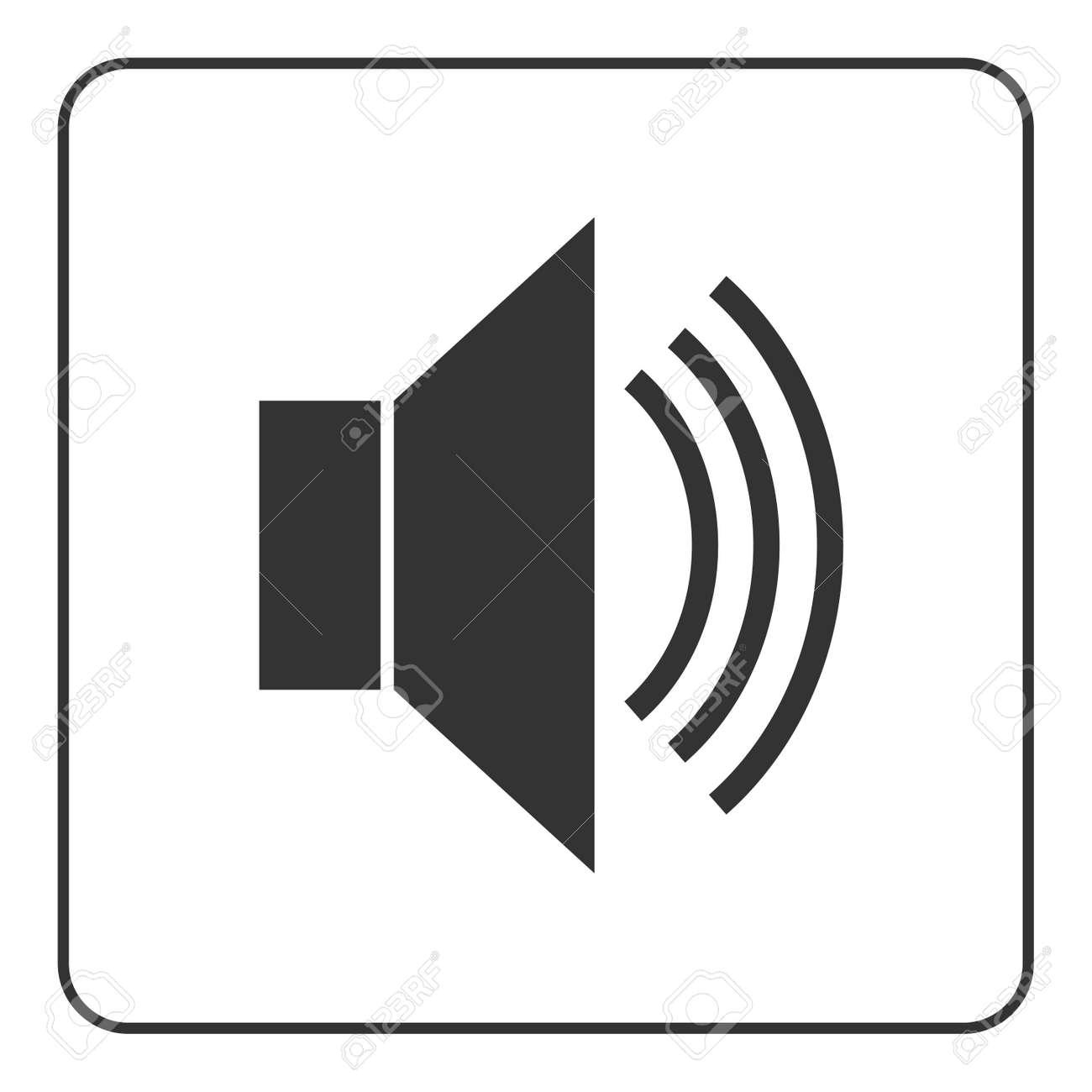 Lautsprecher-Symbol Mit Wellen. Schwarz Lautsprecher öffentliche ...
