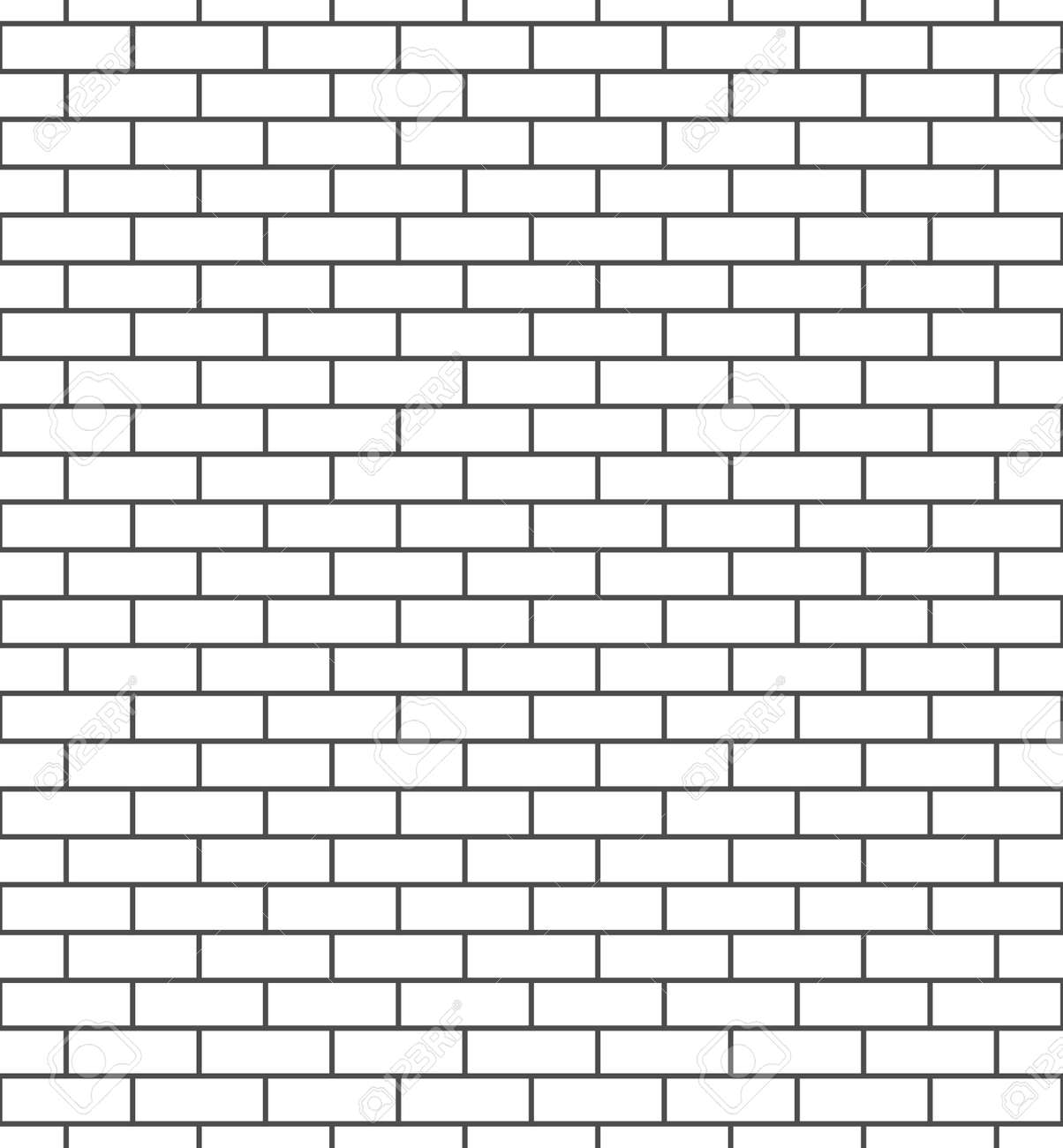 Brick Wall Seamless Pattern White And Gray Surface Exterior Background Blocks Cement Construction