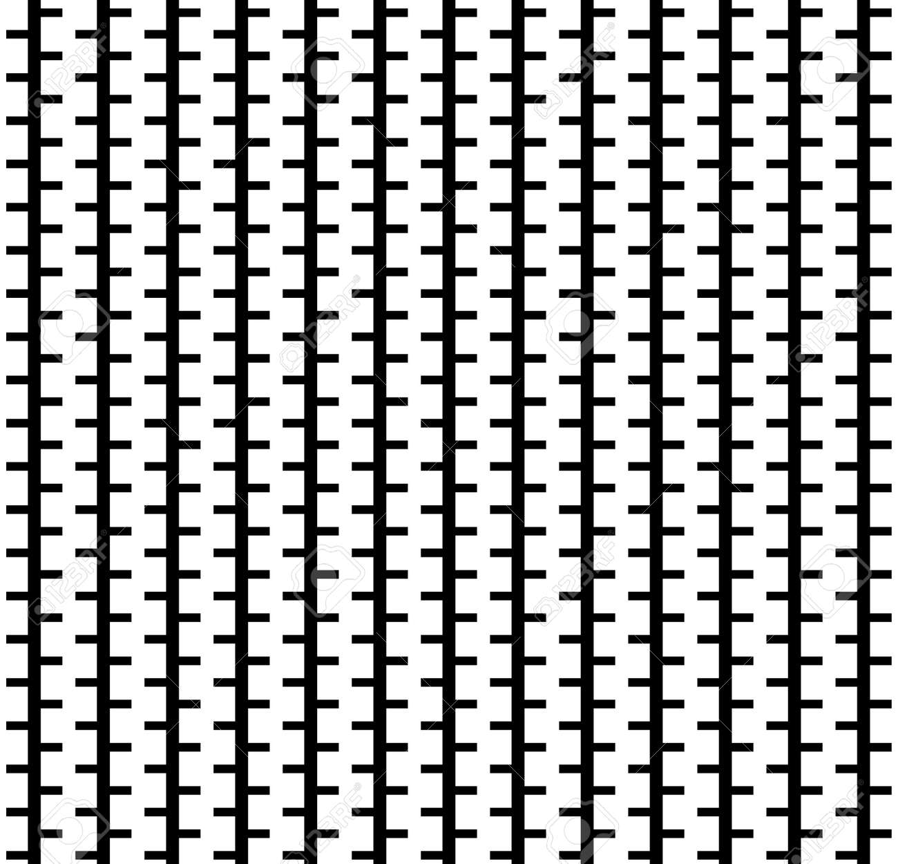 Excellent Birch Tree Stripes Seamless Pattern. Black And White Nature  LZ19