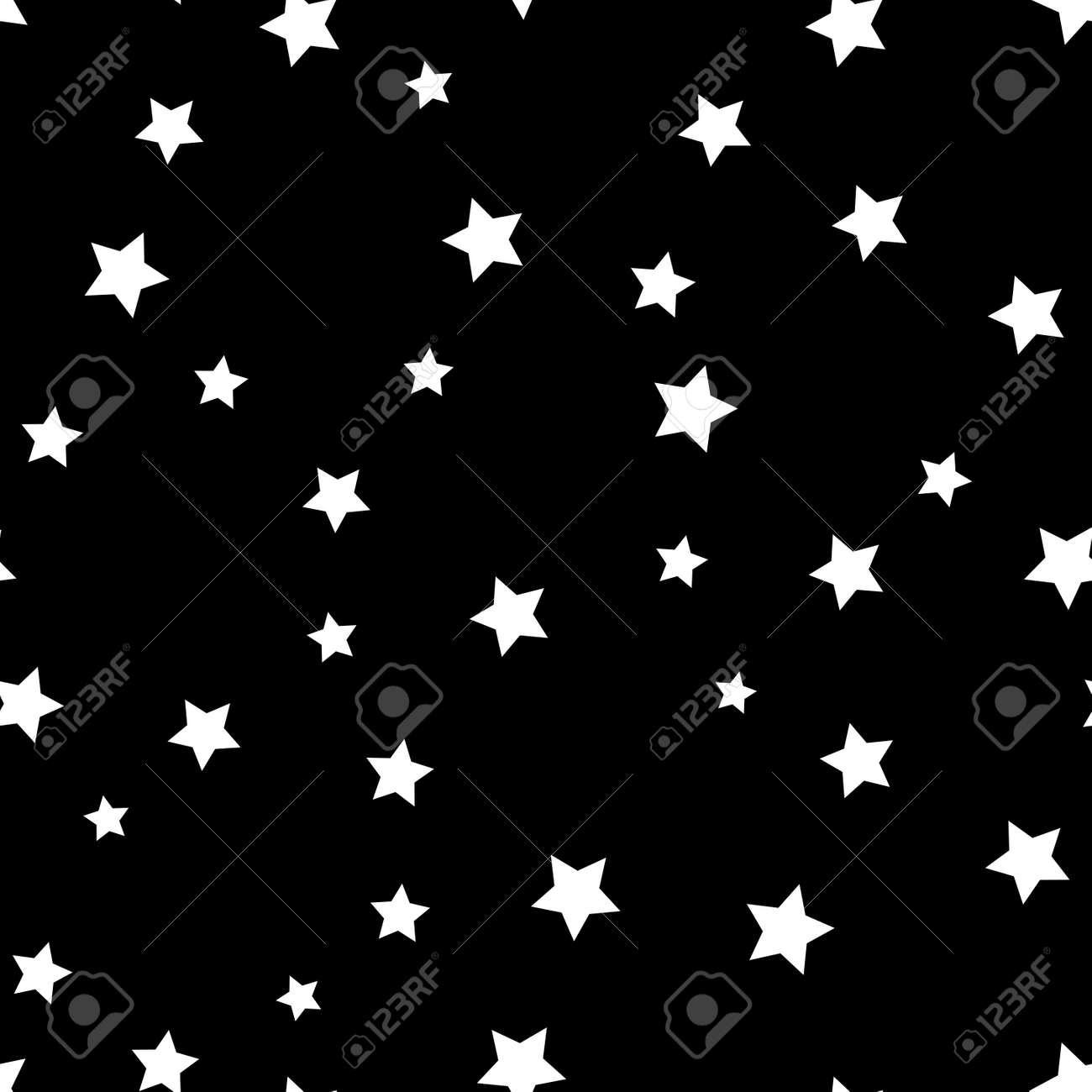 Modelo De Estrella Sin Fisuras. Fondo Retro Blanco Y Negro ...