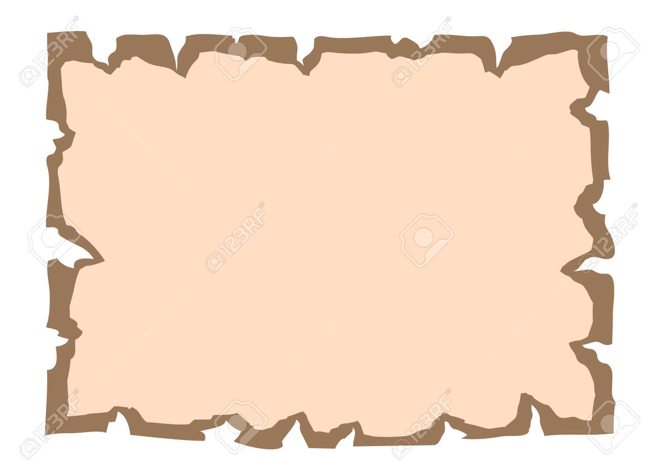 Parchment Old Paper. Empty Cartoon Banner For Message Or Letter. Blank  Document, Isolated  Blank Document Free