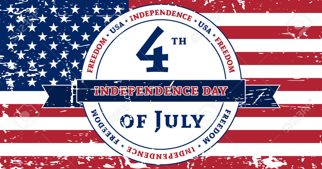 American Flag Symbol For 4th July Independence Day Celebration
