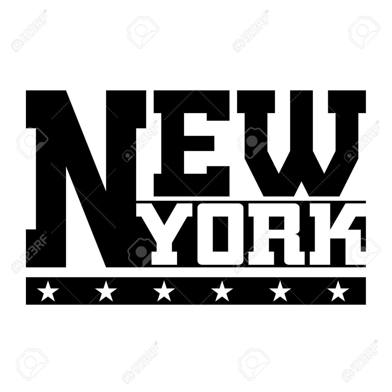 T-Shirt Typographie Grafiken New York. Athletischer Art NYC ...