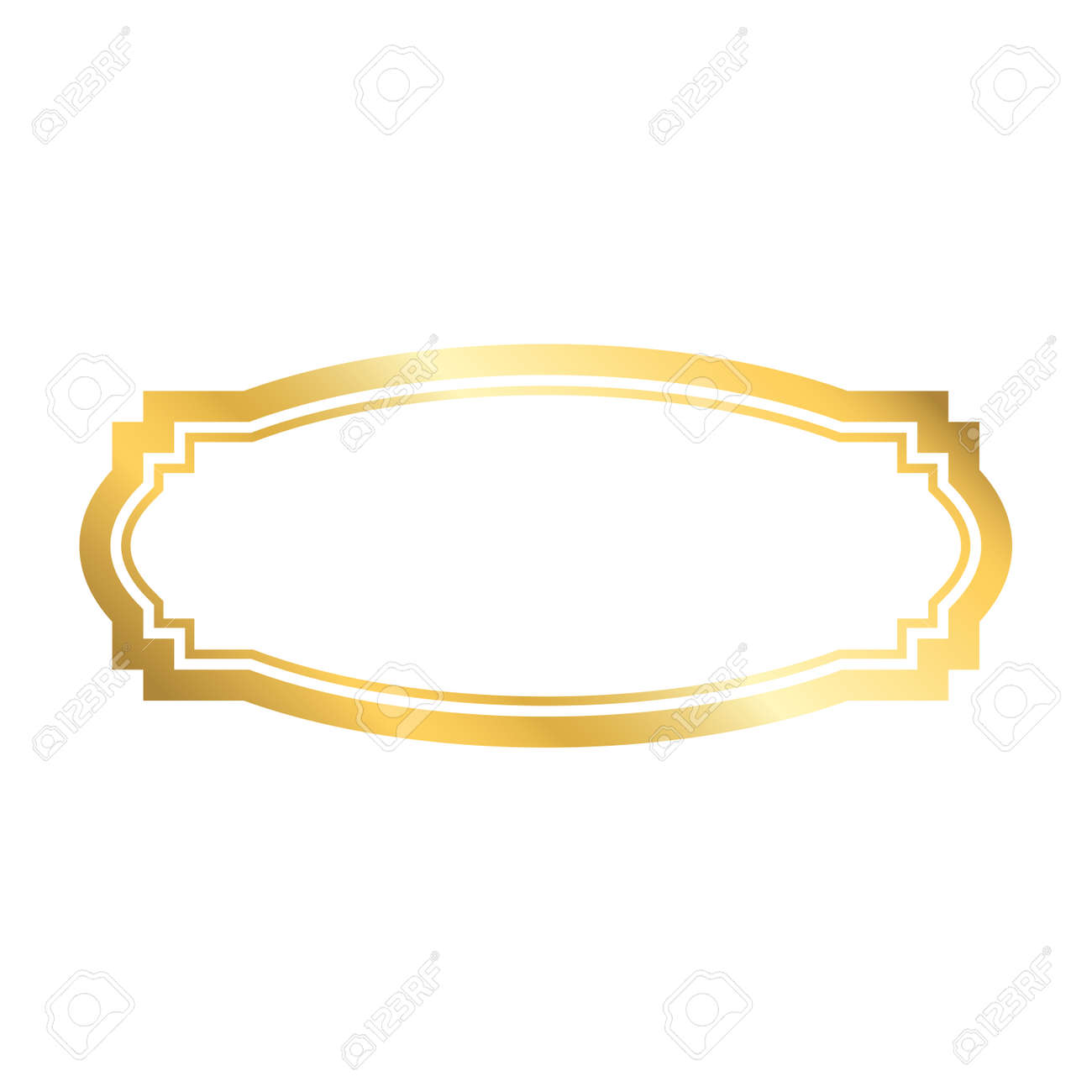 Gold frame  Beautiful simple golden design  Vintage style decorative