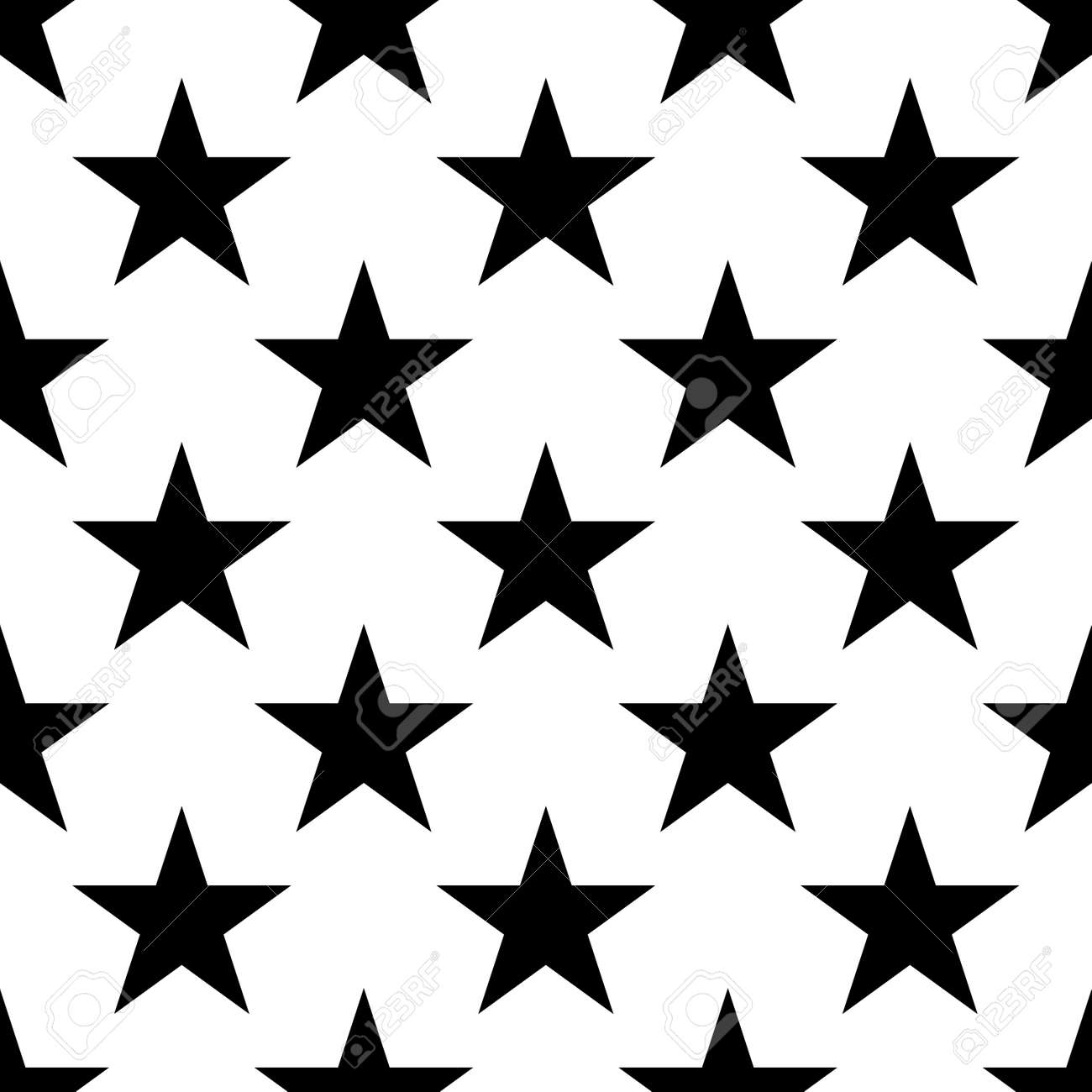 Stars Seamless Pattern Black And White Retro Background Elements Royalty Free Cliparts Vectors And Stock Illustration Image 60411118