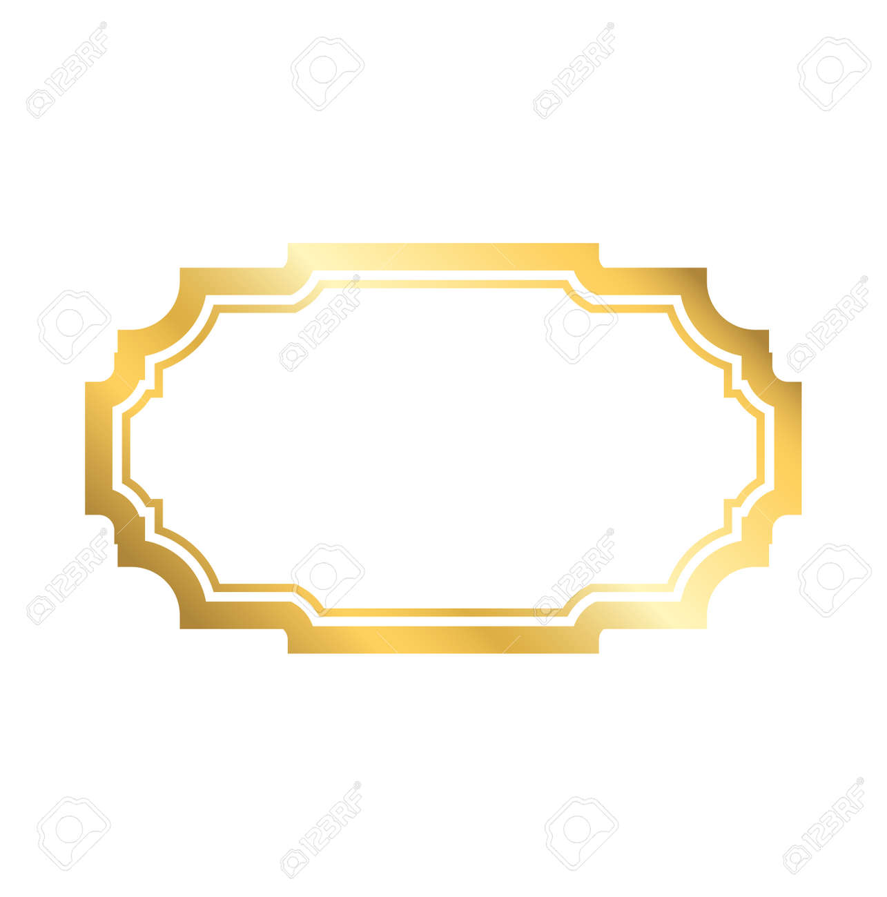 e7ad4348e27e Gold frame. Beautiful simple golden design. Vintage style decorative  border