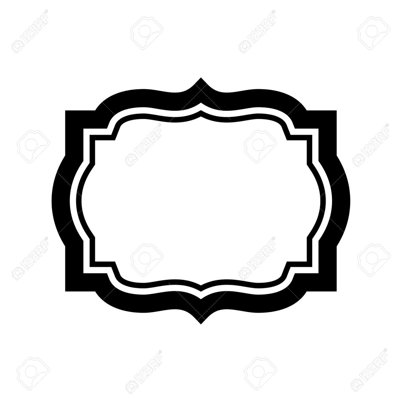 vintage black frame. Black Frame For Picture. Beautiful Simple Design. Vintage Style Decorative Border Isolated On White
