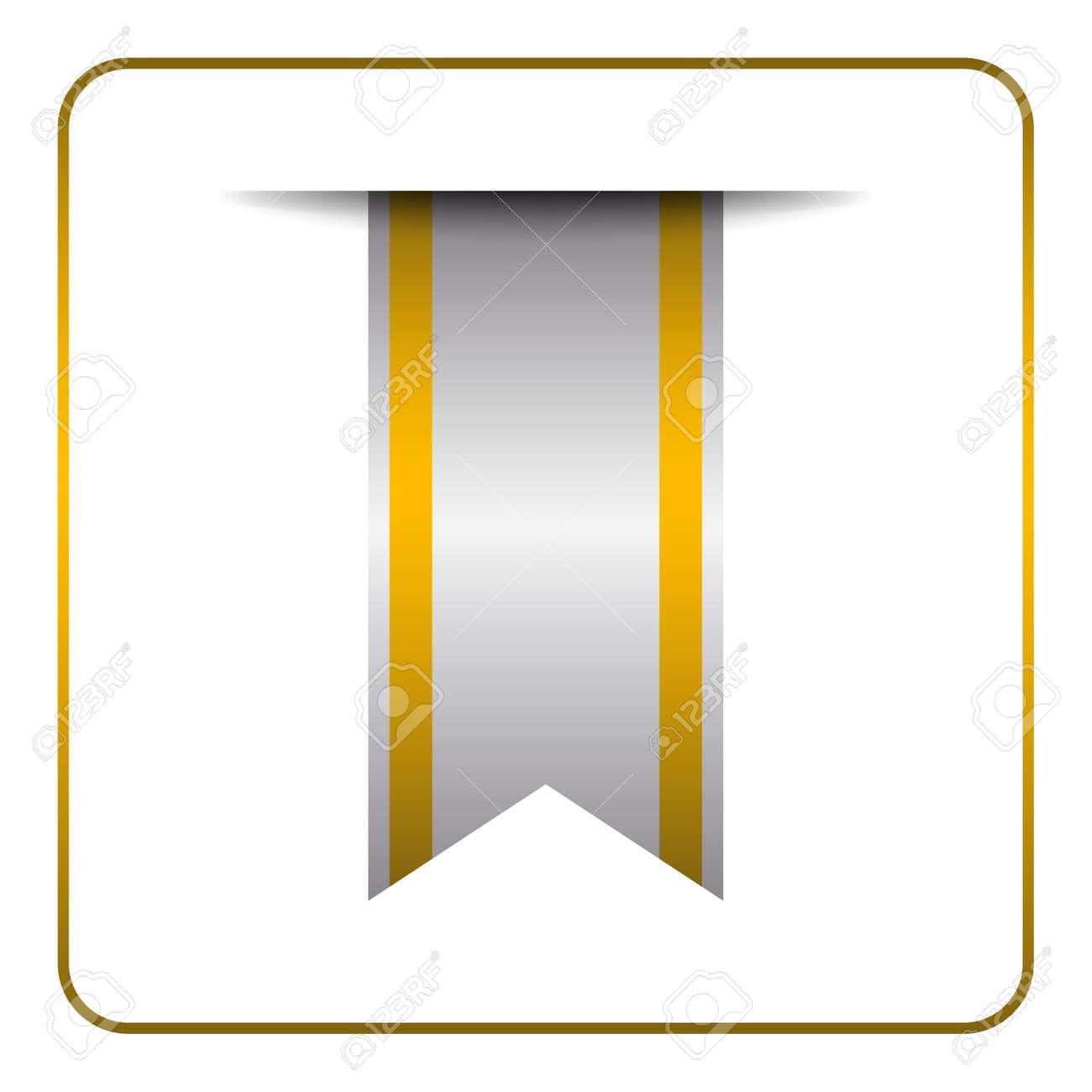 Yellow Lesezeichen Banner. Vertikale Buchzeichen, Isoliert Auf ...