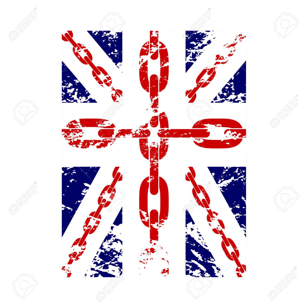 Vettoriale Bandiera Britannica T Grafica Camicia Tipografia Blu