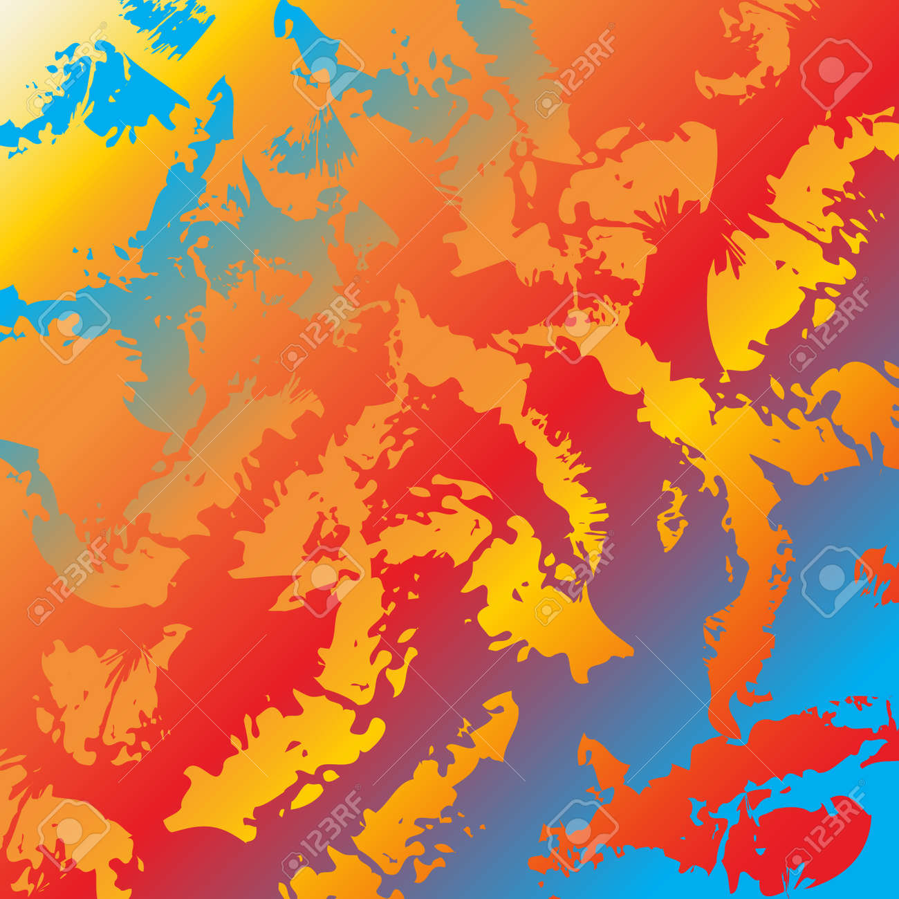 Abstract Colorful Background Rainbow Colors Bright Artistic