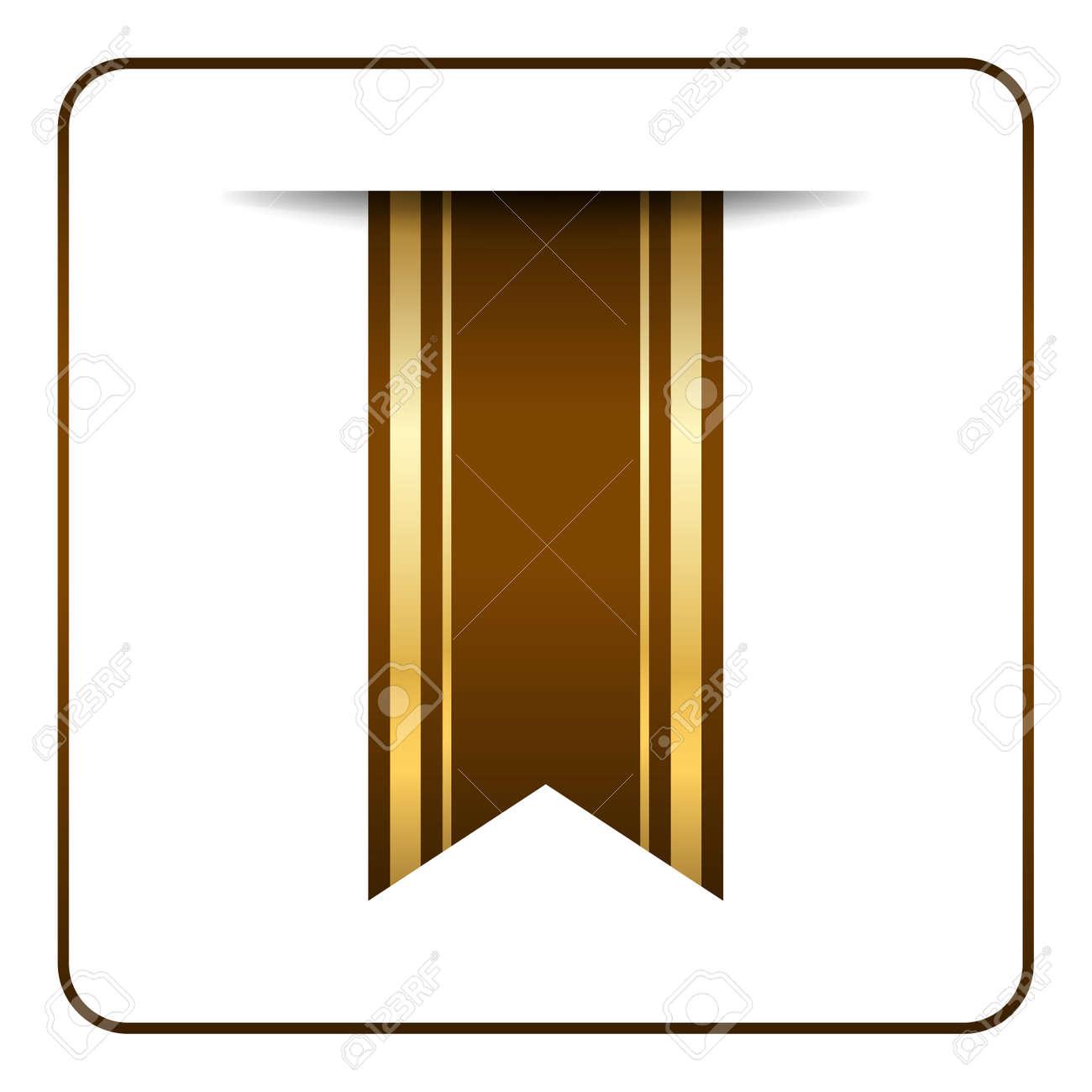 Brown Und Gold Lesezeichen Banner. Vertikale Buchzeichen, Isoliert ...
