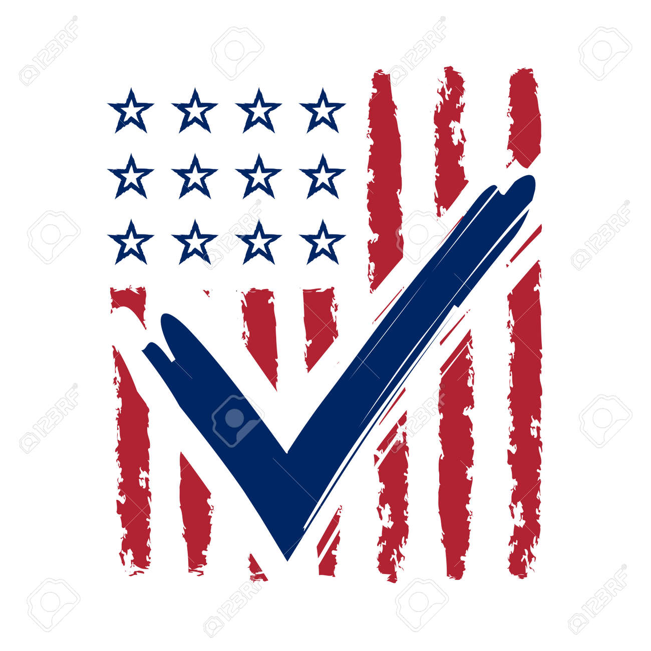 Presidential election usa sign blue and red design on white presidential election usa sign blue and red design on white background for voting campaign biocorpaavc