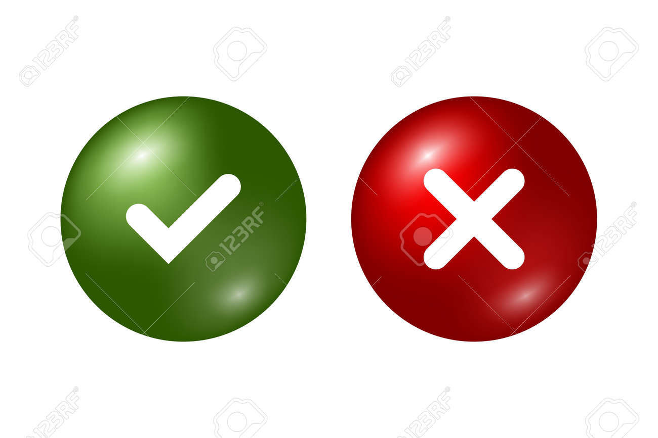 Tick and cross signs green checkmark ok and red x icons isolated tick and cross signs green checkmark ok and red x icons isolated on white buycottarizona Gallery