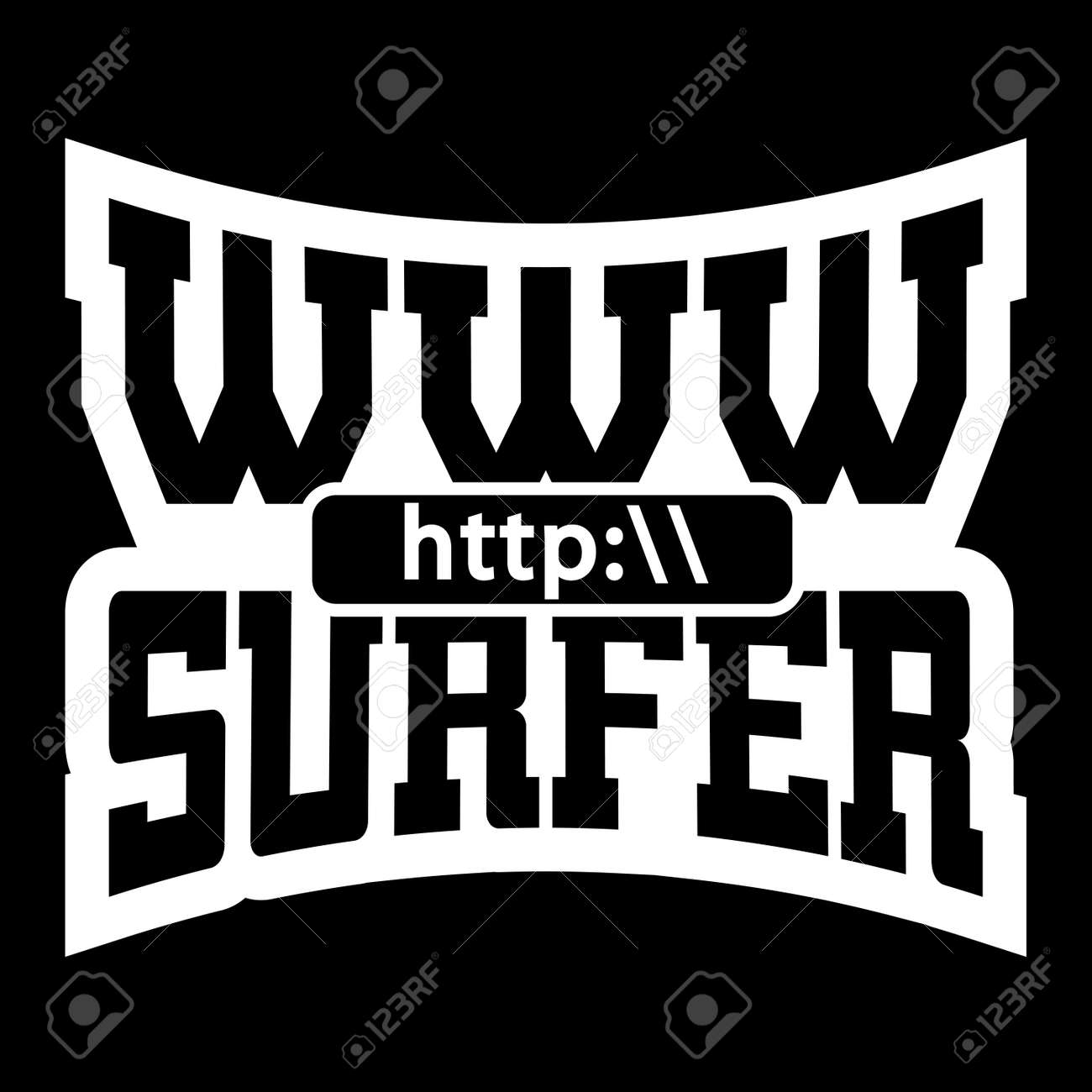 Www Internet Surfer Gráficos Camiseta Tipografía. Maqueta Con La ...