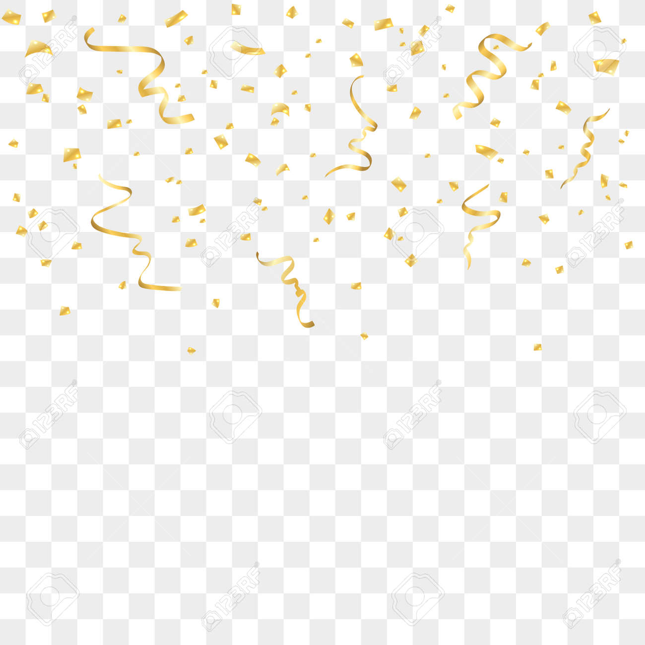 Confetti background vector golden confetti background - Vector Illustration Gold Confetti Celebration Isolated On Transparent Background Falling Golden Abstract Decoration For Party Birthday