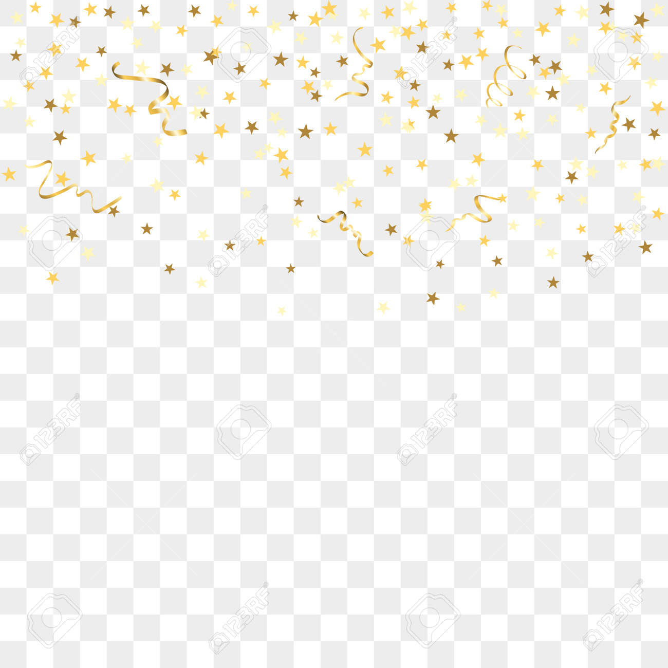 Confetti background vector golden confetti background - Vector Illustration Gold Star Confetti Celebration Isolated On Transparent Background Falling Golden Abstract Decoration For Party