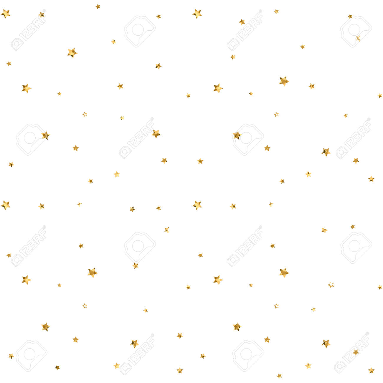 Stars Seamless Pattern Gold And White Retro Background Abstract Bright Golden Design For Wallpaper