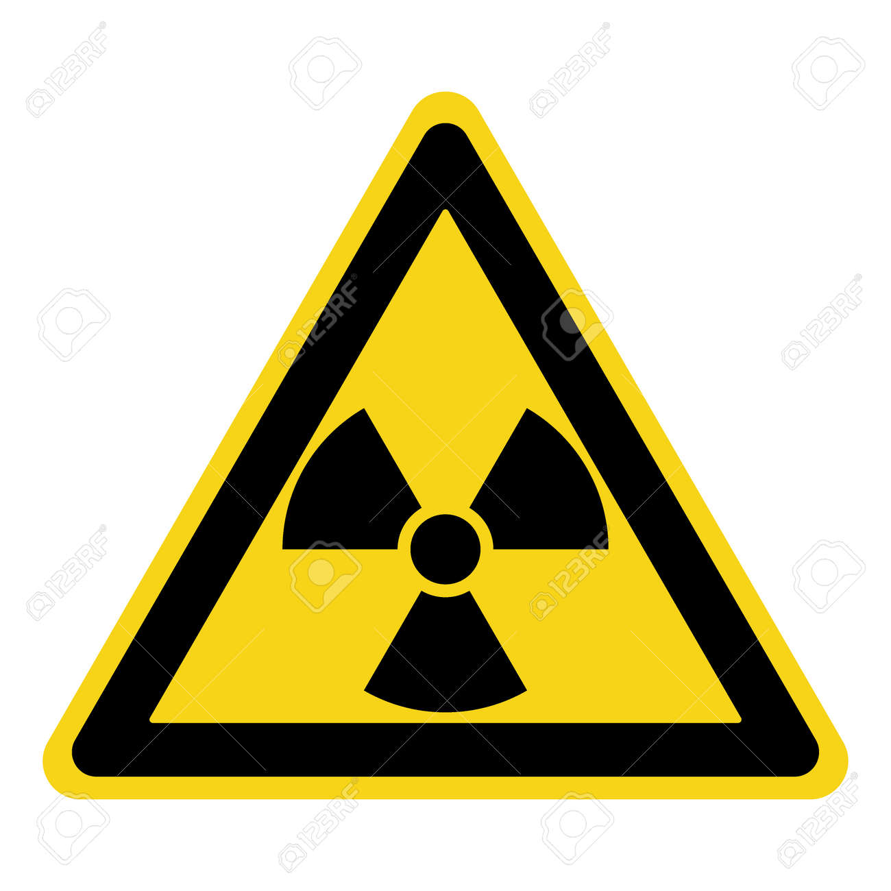 Radiation Hazard Sign Symbol Of Radioactive Threat Alert Black