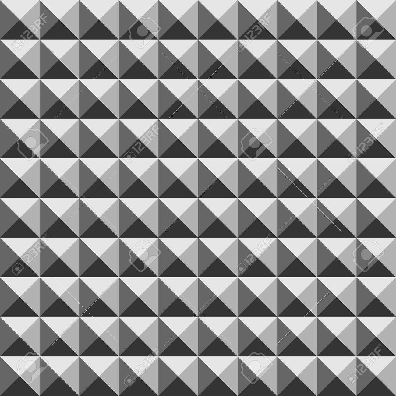 550eb0aa954 Pirámide Sin Fisuras Patrón Geométrico 3D. La Moda De Diseño Gráfico De  Fondo. Textura Con Estilo Moderno. Plantilla Blanco Y Negro.
