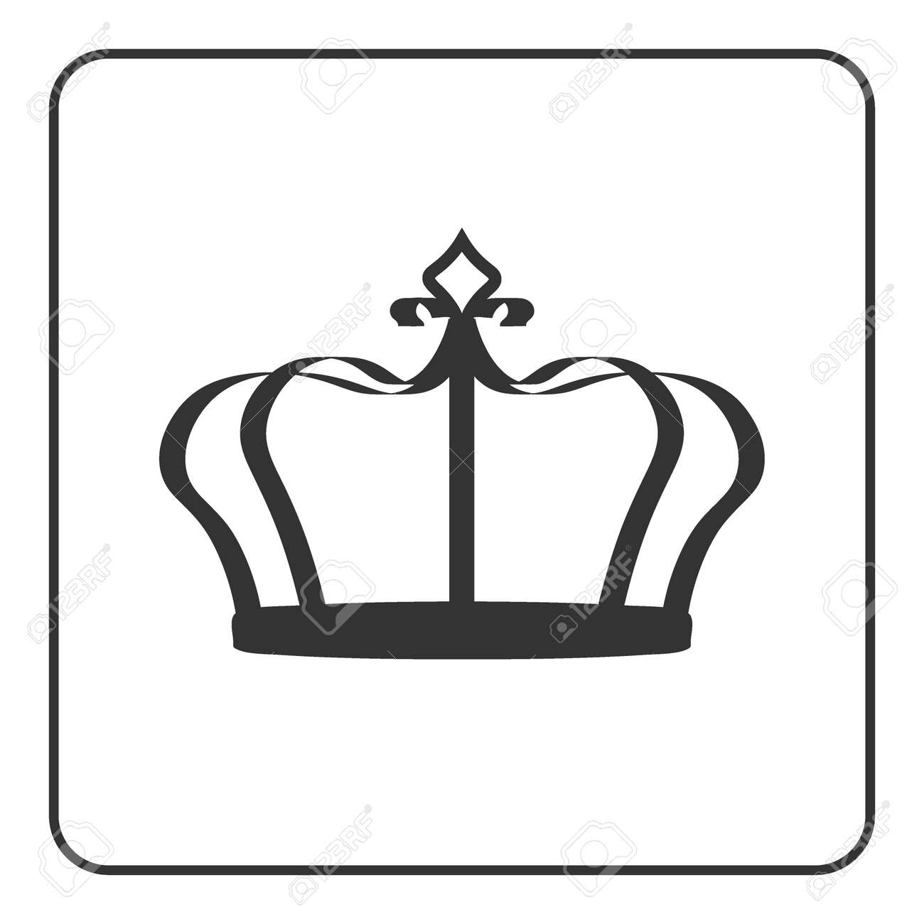 Crown Icon Symbol Of Royal Power And Authority Emperor Sign