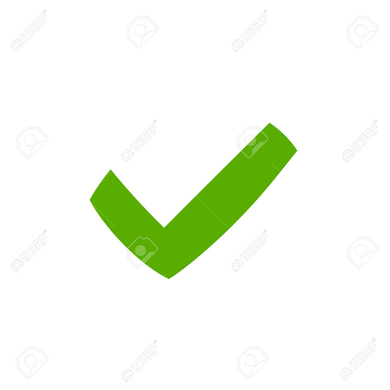 tick sign element green checkmark icon isolated on white background rh 123rf com check mark graphic excel check mark graphic art