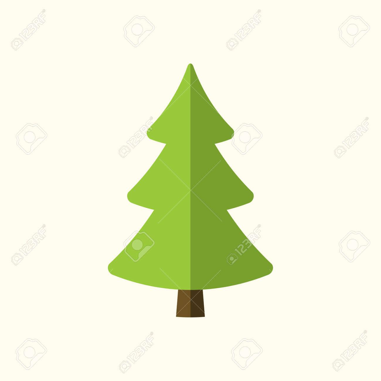 Sinal De Arvore De Natal Icone Simples Dos Desenhos Animados