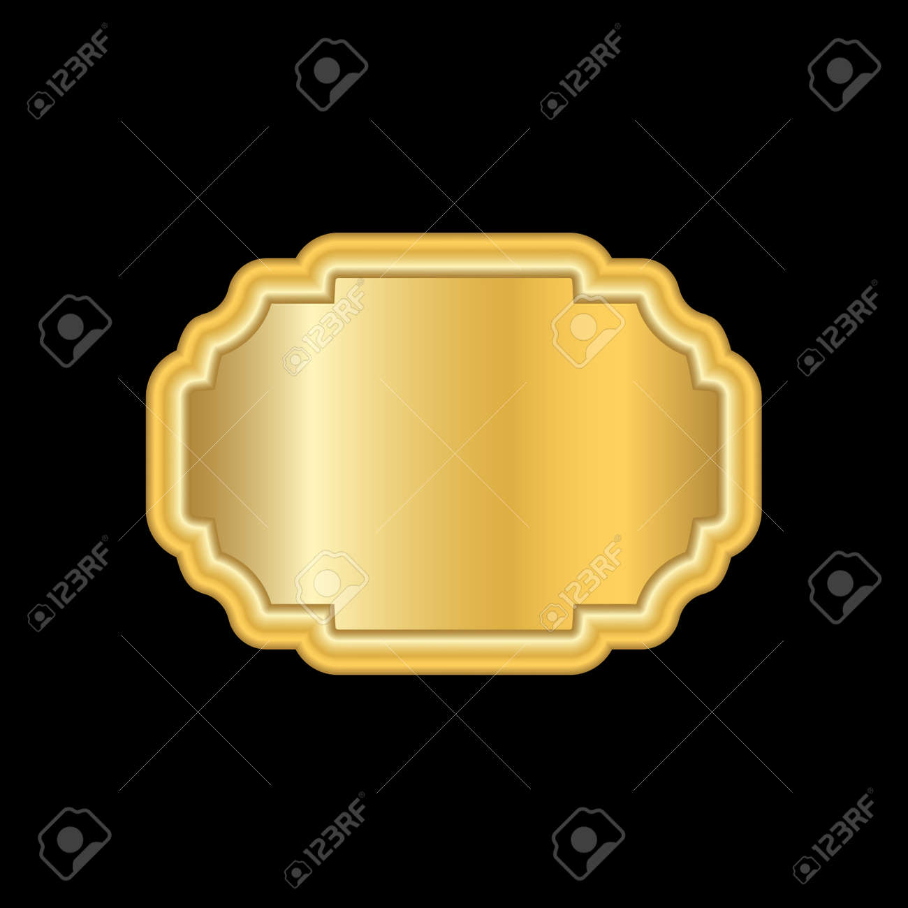 Gold Frame. Beautiful Simple Golden Design. Vintage Style Decorative ...