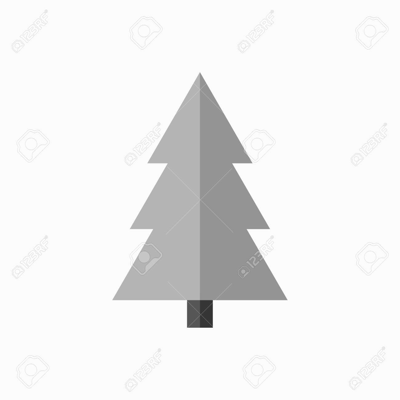 Christmas Trees Silhouette.Christmas Tree Sign Simple Cartoon Icon Black Template Silhouette