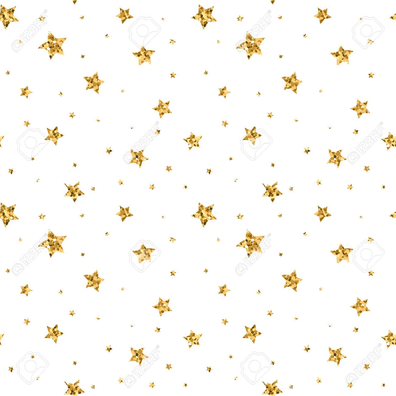 シームレスな星の金と白のレトロな背景をパターンします 壁紙
